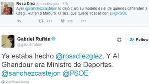 Gabriel Rufián trolea a Rosa Díez