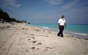 Playas de Varadero en Cuba durante la pandemia de COVID-19.