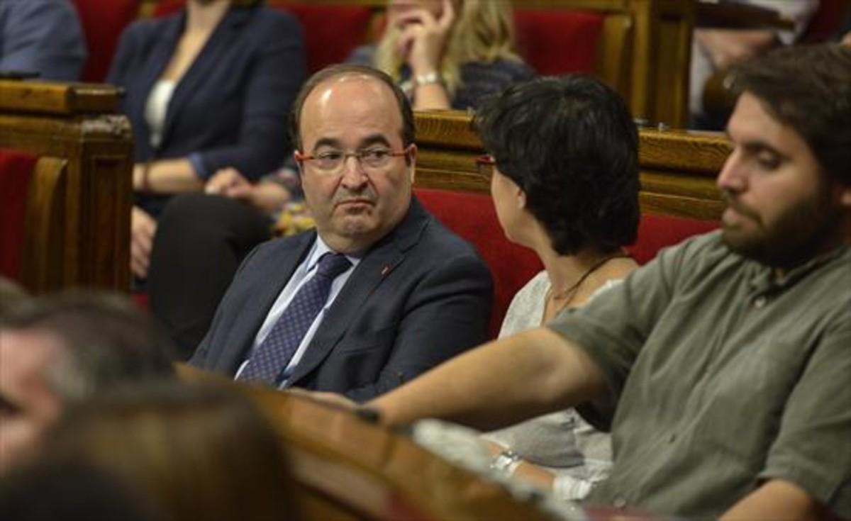 Los socialistas Miquel Iceta y Eva Granados.