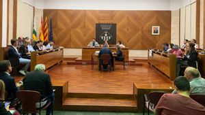 Sesión plenaria del Ayuntamiento de Sabadell.
