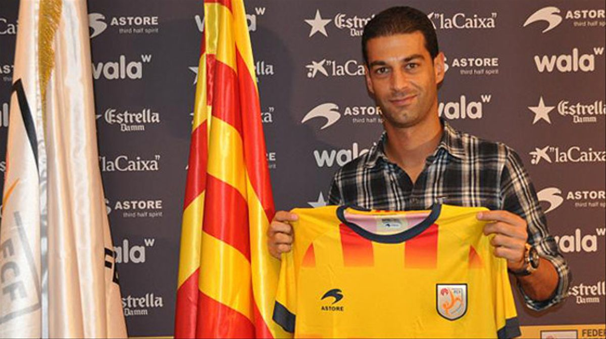 Gerard López, con la camiseta de la selección catalana.