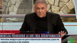 """Ferreras, crítico con el Gobierno por su plan contra las 'fake news': """"Altamente peligroso"""""""