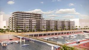 Imagen virtual de una promoción inmobiliaria de Neinor enBadalona.