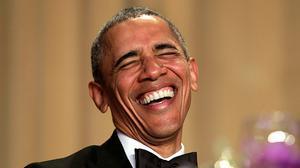 Obama derrocha humor durante su discurso en la cena de corresponsales en la Casa Blanca.