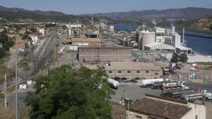 Las instalaciones de Ercros en Flix.
