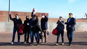 Salida de los presos políticos del centro de LLedoners.