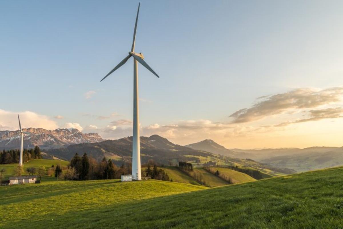 Un molino de energía eólica en Cantabria.