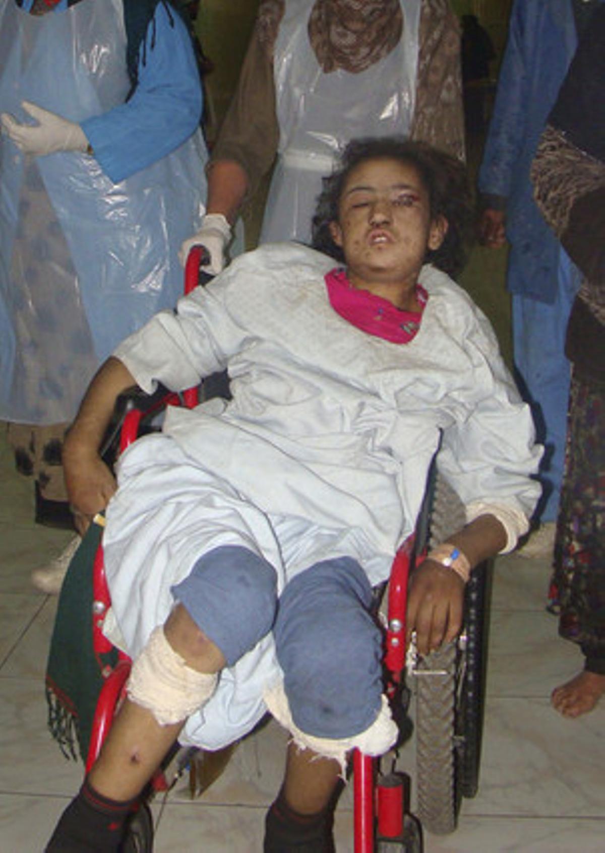 Sara Gul tras ser rescatada.