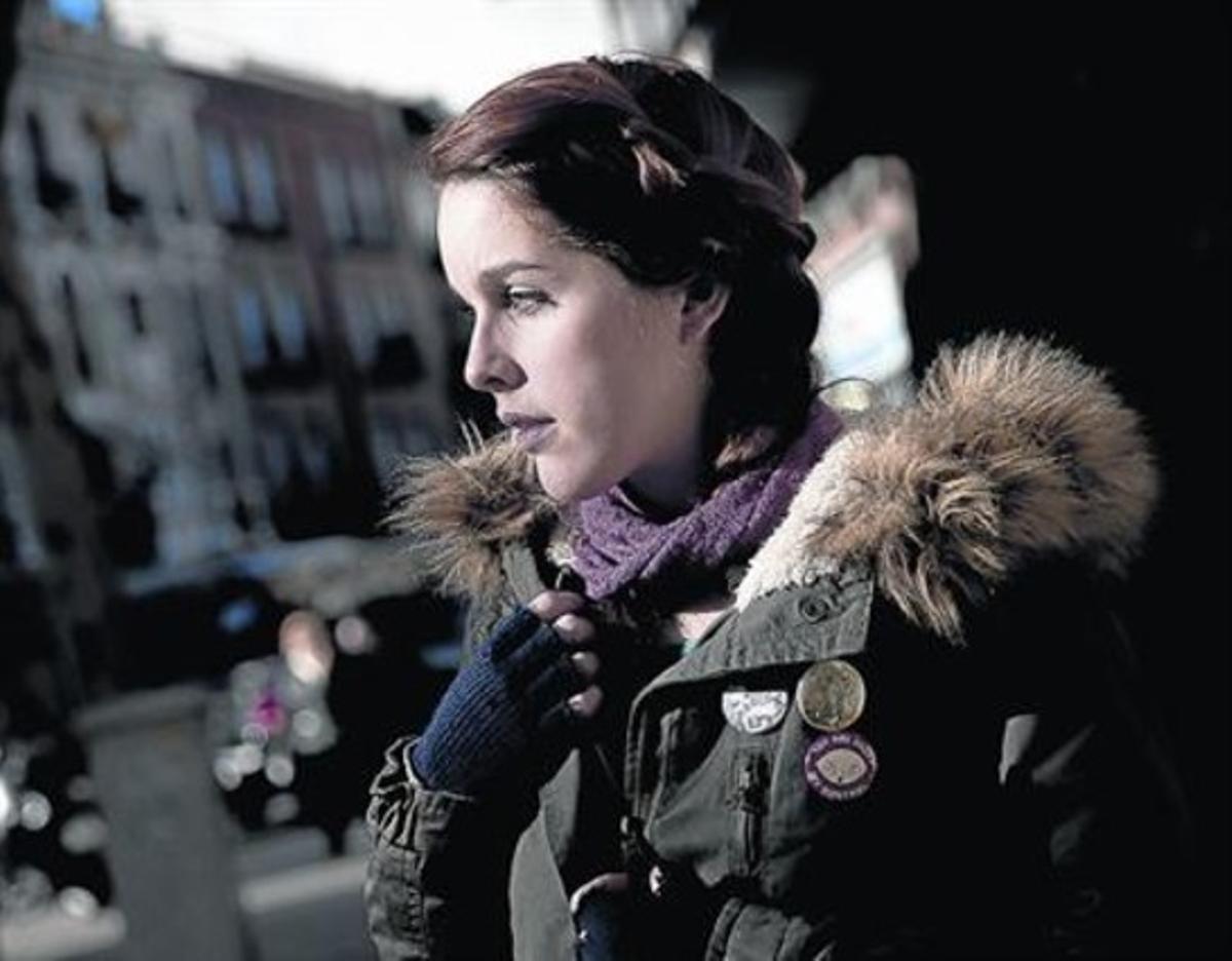 La actriz porno Amarna Miller, el pasado diciembre, en Madrid.