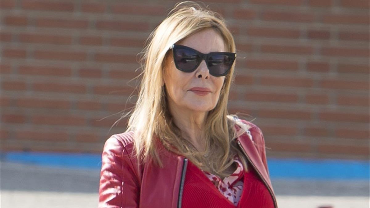 Ana Obregón, hace un año, en el Hospital Ruber Internacional de Madrid.