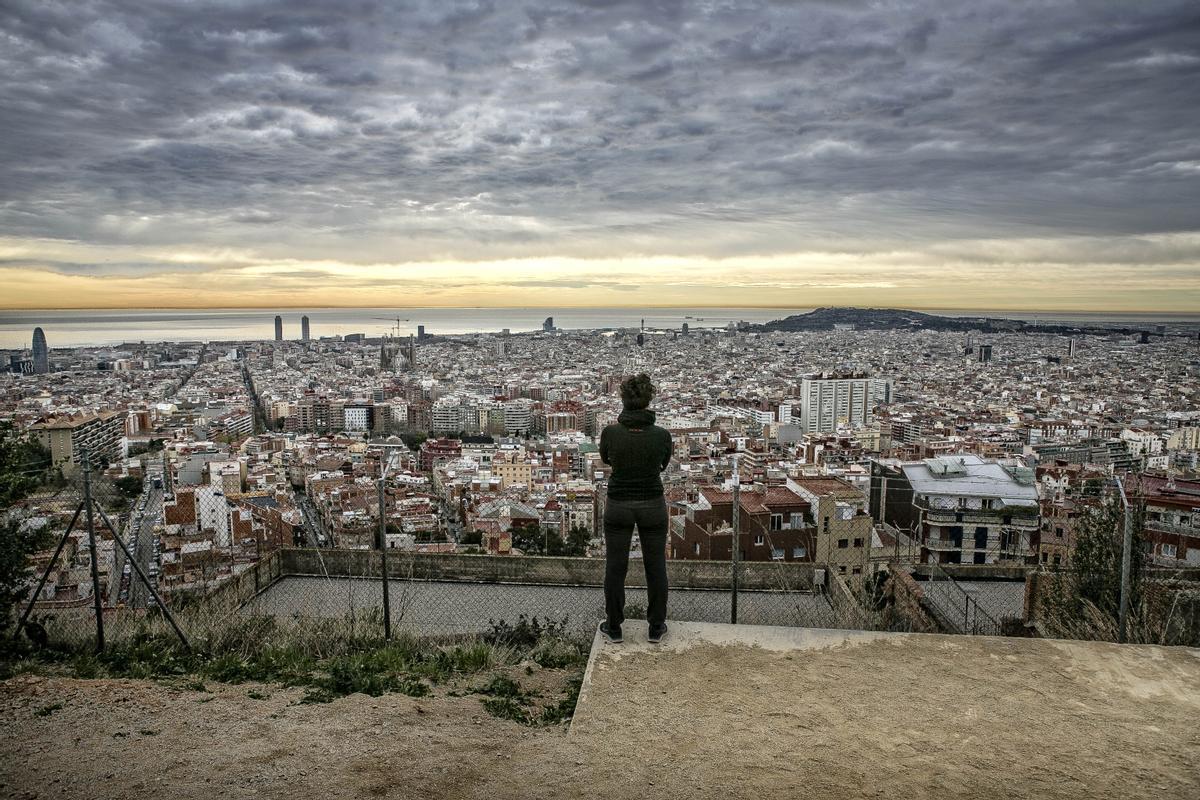 Barcelona vista desde el Turó de la Rovira.