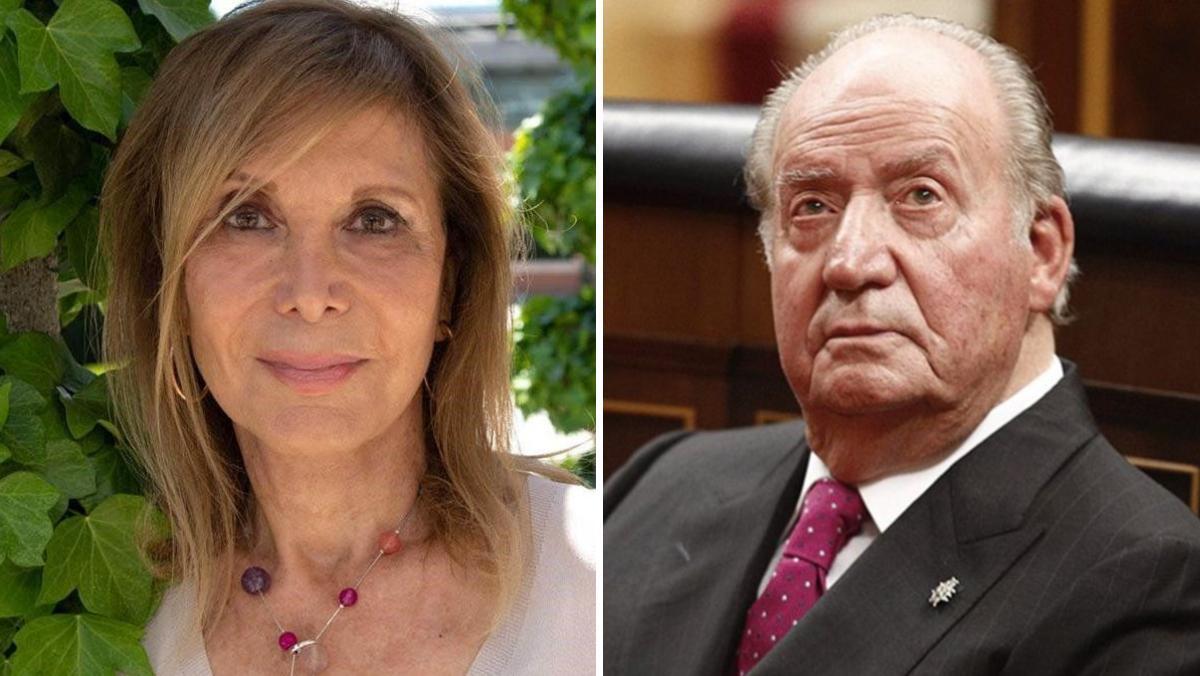 La periodista Pilar Eyre y el emérito Juan Carlos I.