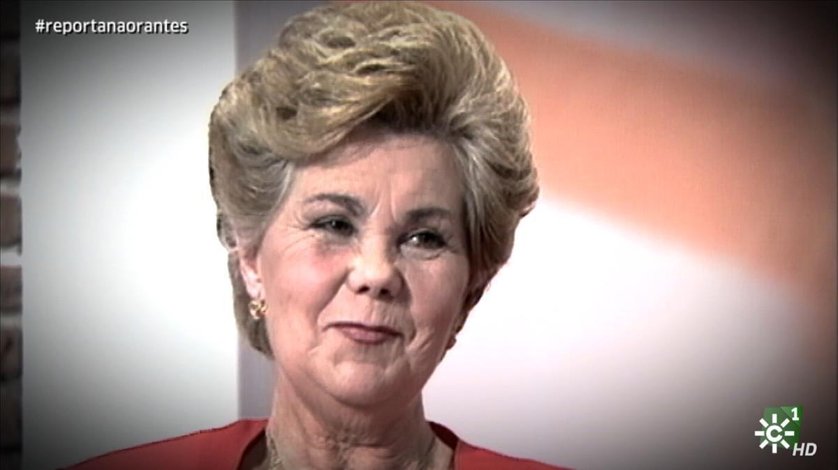 Ana Orantes, en 1997, poco antes de ser asesinada por su exmarido, en su intervención en Canal Sur.
