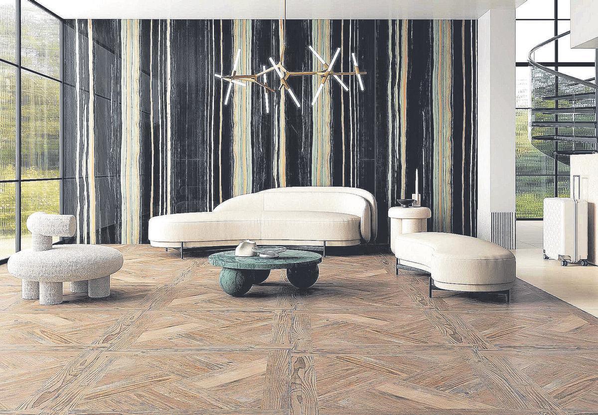 El porcelánico imitación madera, que da un toque rústico y cálido, es una de las últimas tendencias en reformas