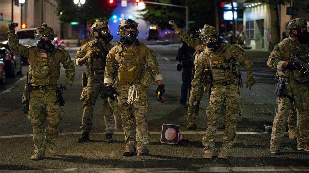 Alarma por la agresiva intervención federal en las protestas de Portland