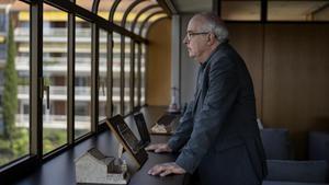Josep Bargalló, este jueves, fotografiado en las oficinas del Departament d'Educació, en Barcelona.