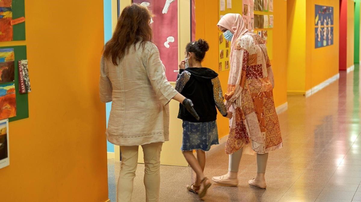 La escuela Vila-roma de Palamós (Girona) ha abierto sus puertas a los alumnos.