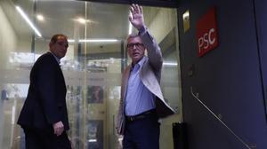 El alcalde de Tarragona, Josep Fèlix Ballesteros, en la sede del PSC en Barcelona.