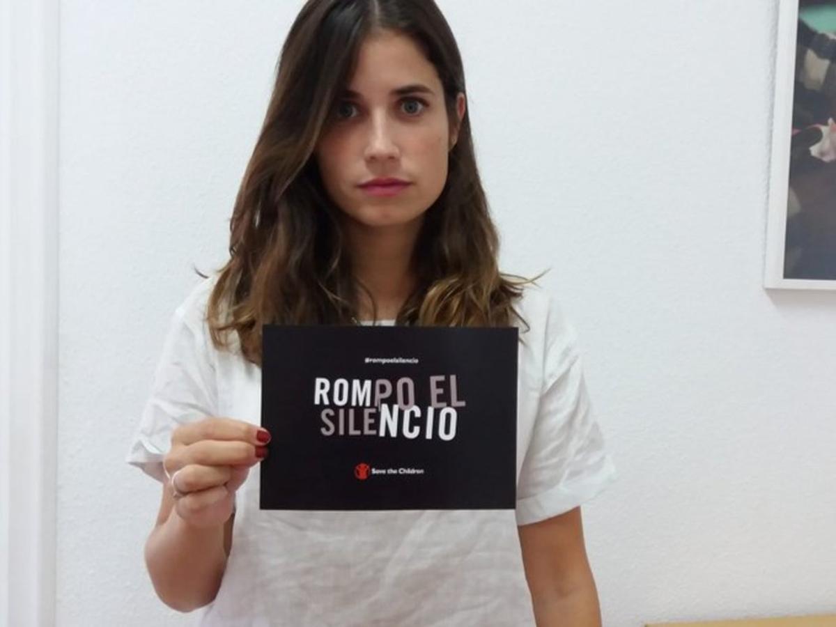 Campaña 'Rompo el silencio' de Save The Children para que personas que fueron víctimas de abusos sexuales lo denuncien.