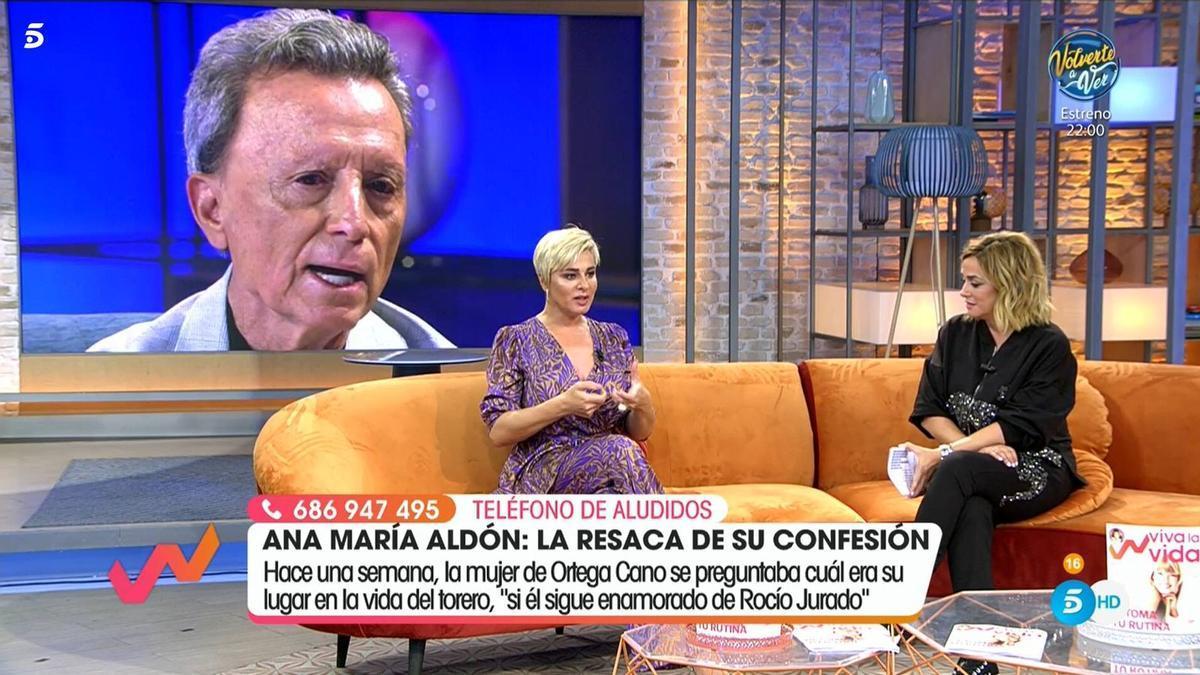 """Toñi Moreno desvela cómo se gestionó la entrevista a Ortega Cano: """"Entró enfadado, como si le hubiéramos obligado"""""""