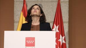 Isabel Díaz Ayuso, el 18 de septiembre.