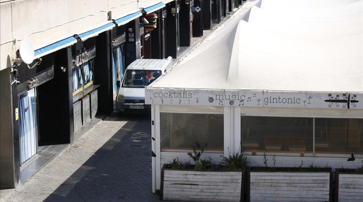 Lugar donde se inició la pelea mortal en el Port Olímpic.