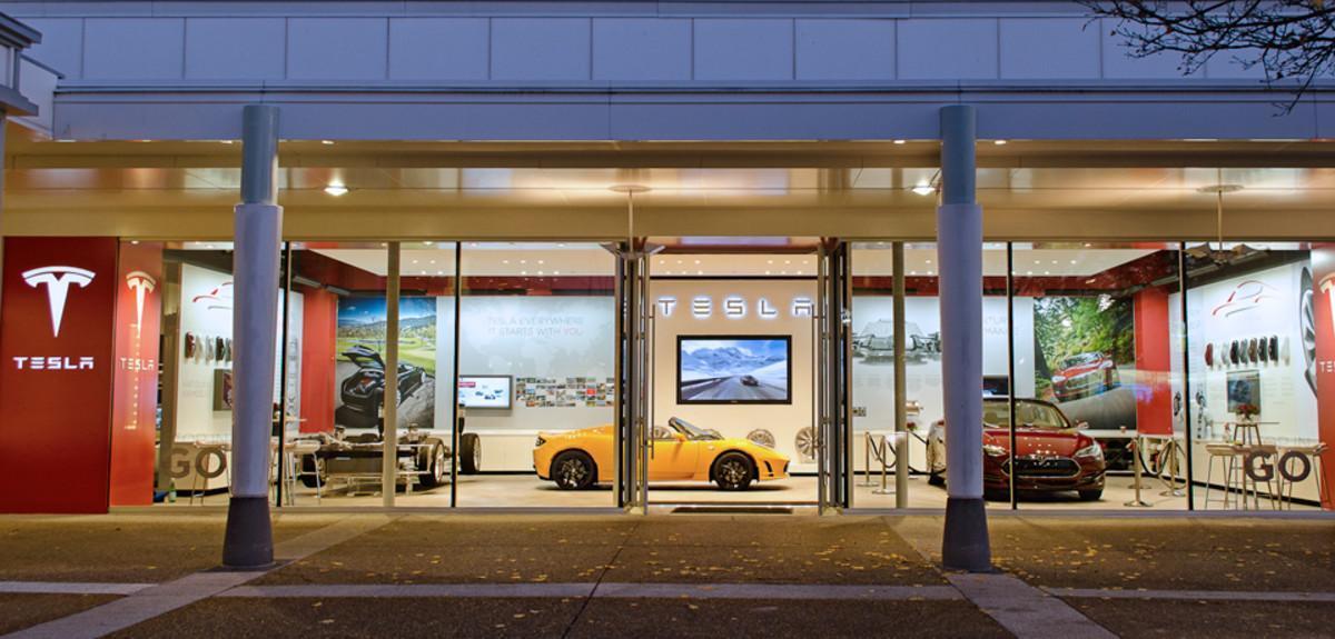 Tienda de Tesla en Estados Unidos.