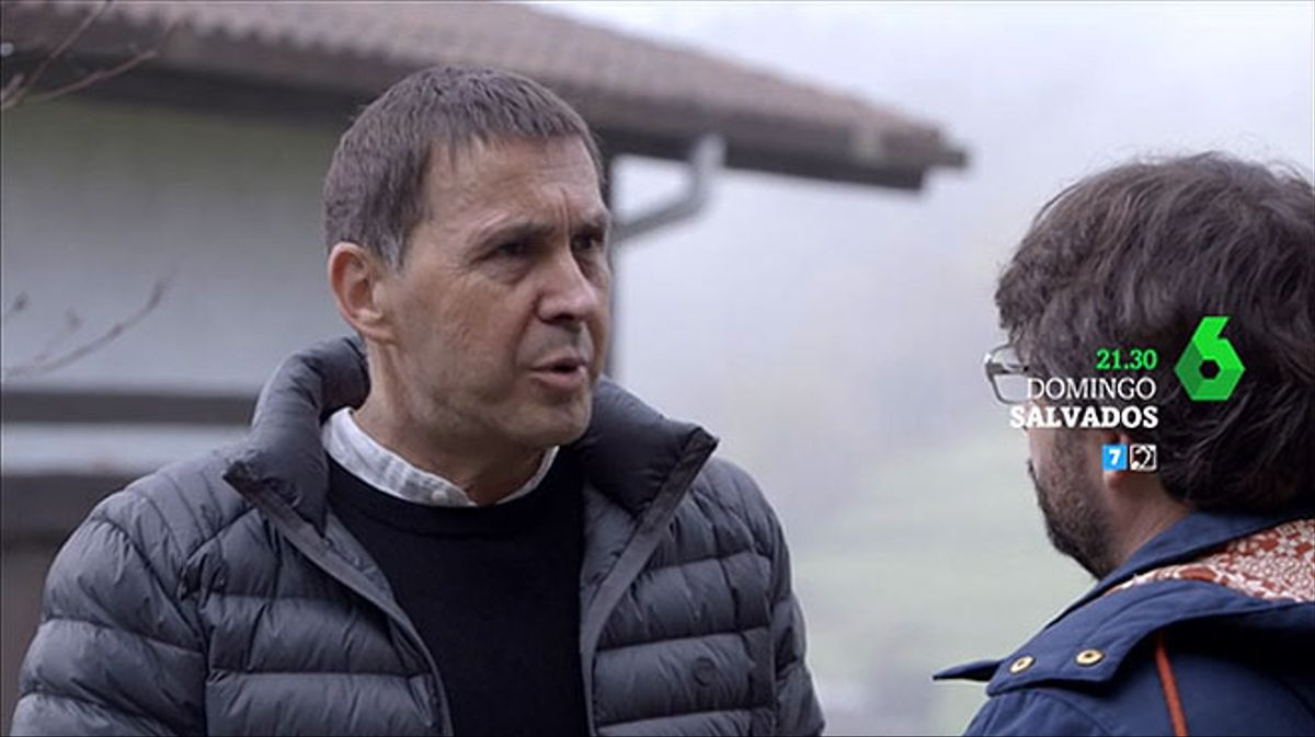Arnaldo Otegi conversa con Jordi Évole en 'Salvados'.