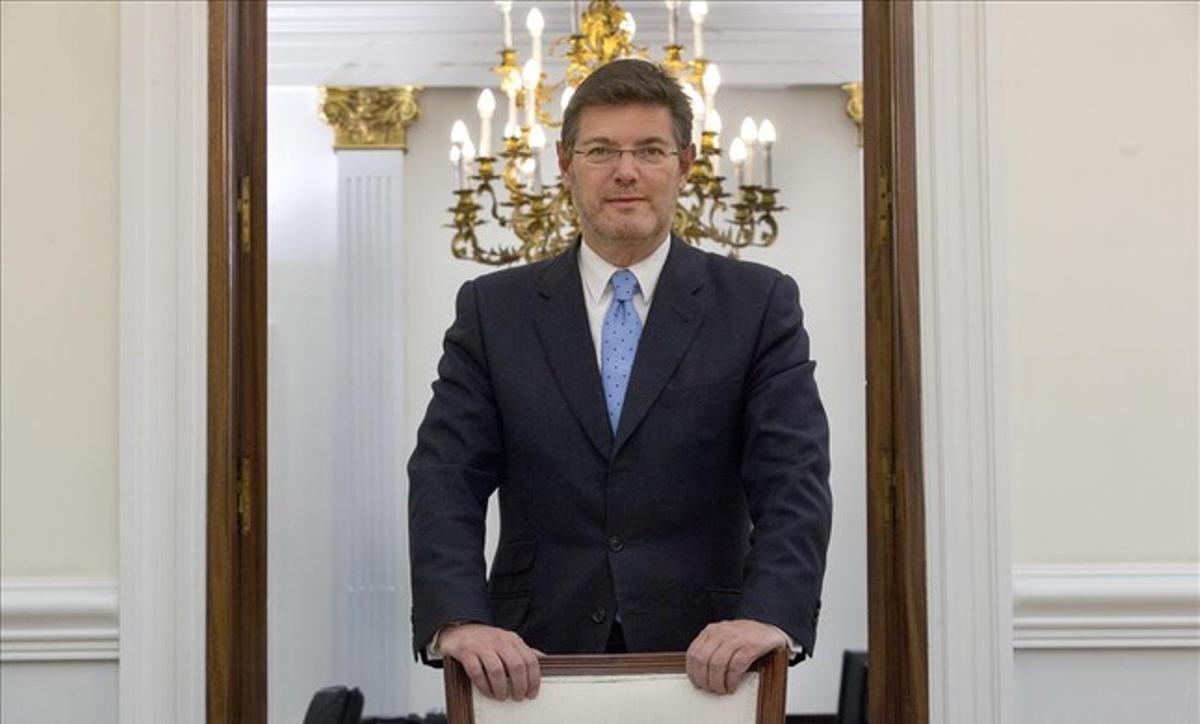 El ministro de Justicia en funciones, Rafael Catalá, en un momento previo a la entrevista.