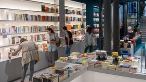 Un aspecto de la nueva librería Ona, el pasado lunes en Barcelona.