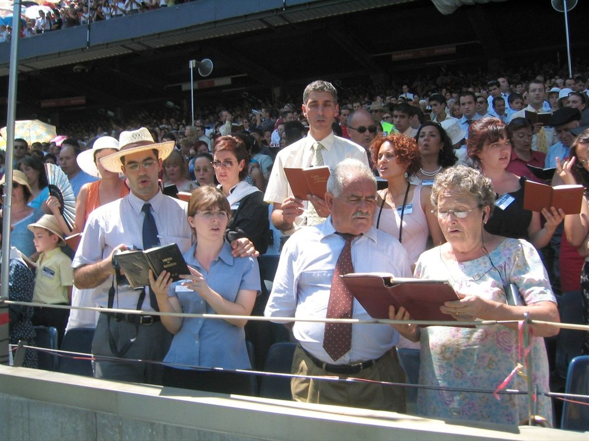 Acto de los Testigos de Jehová en Barcelona.