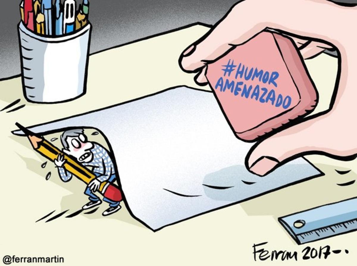 Las viñetas del #HumorAmenazado surcan Twitter