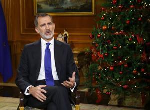El Rey Felipe, durante su discurso navideño.