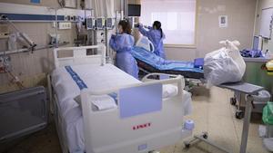 Una de las unidades de pacientes semicríticos de Vall d'Hebron.