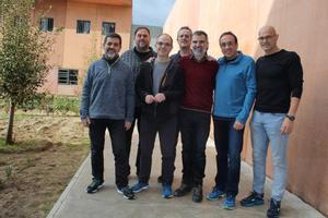 Los políticos independentistas presos en la cárcel de Lledoners, en diciembre del 2018.