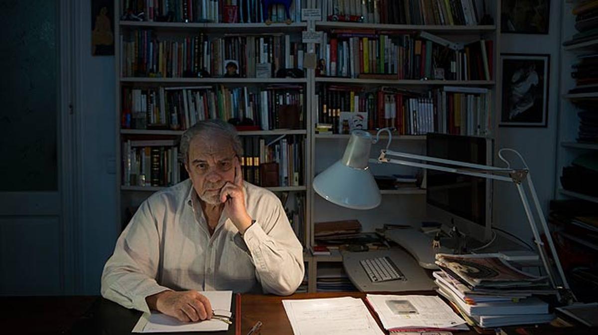 El escritor Juan Marsé habla con EL PERIÓDICO coincidiendo con la presentación de su novela 'Esa puta tan distinguida'.
