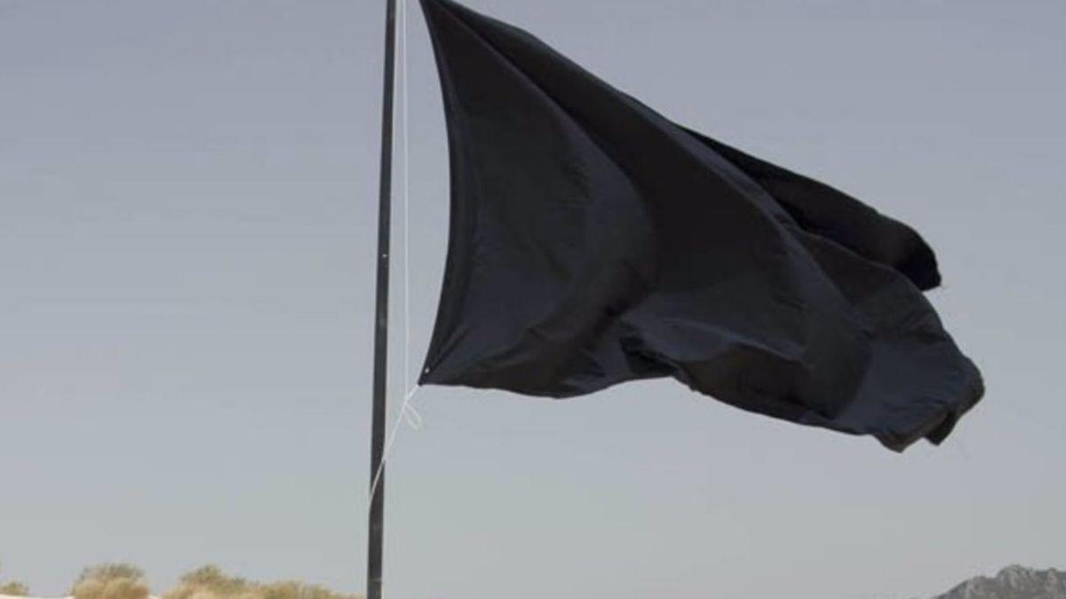 Una bandera negra.