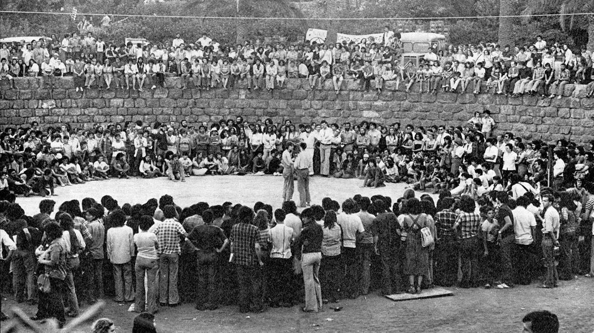 Jornadas Libertarias de Barcelona, en 1977.