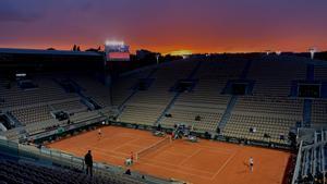 La pista Suzanne Lenglen, la segunda en capacidad de Roland Garros, con más de 10.000 localidades, el año pasado durante el torneo de París.
