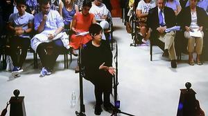 Rosario Porto declarando ante el juez.