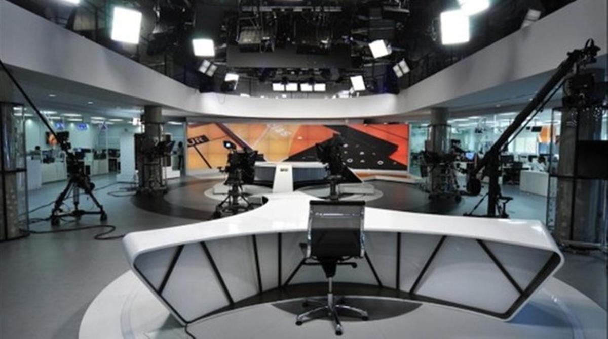 Imagen del plató de Informativos de Antena 3, en San Sebastián de los Reyes (Madrid).