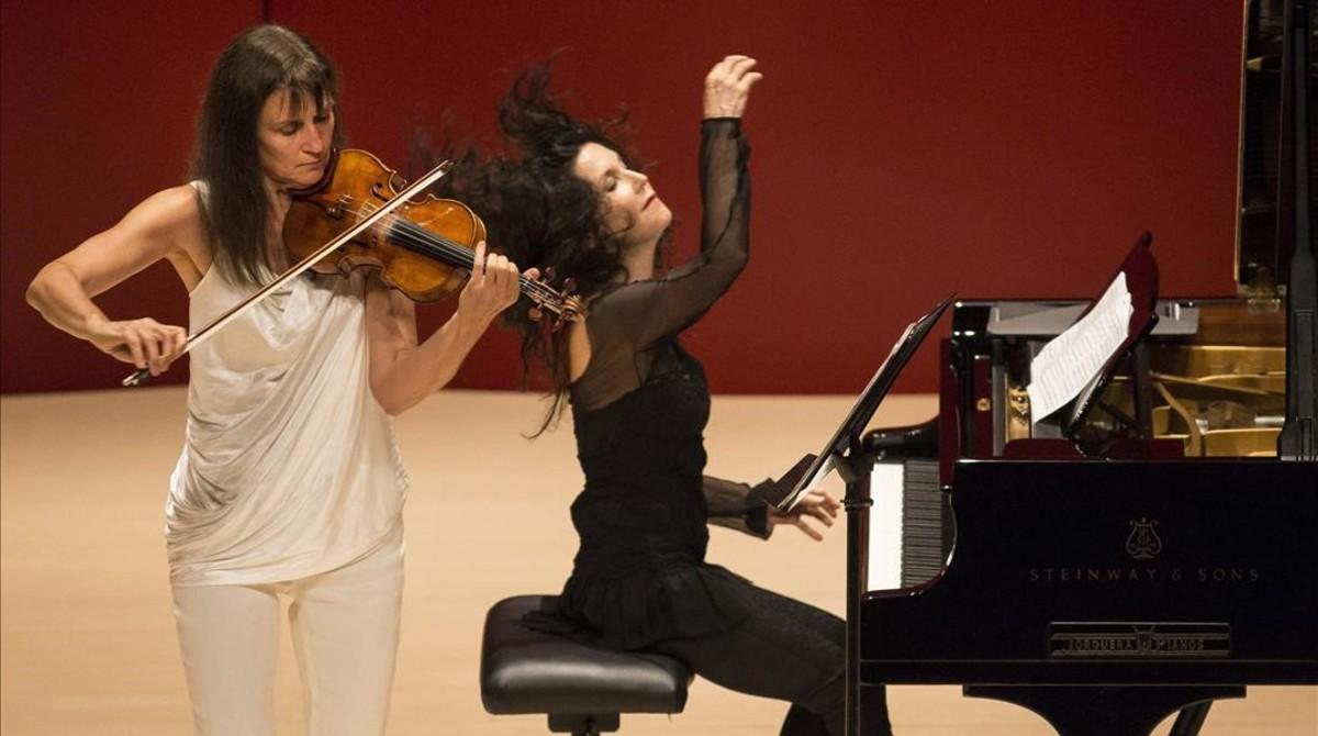 Viktoria Mullova y Katia Labèque en el festival de Torroella de Montgrí.