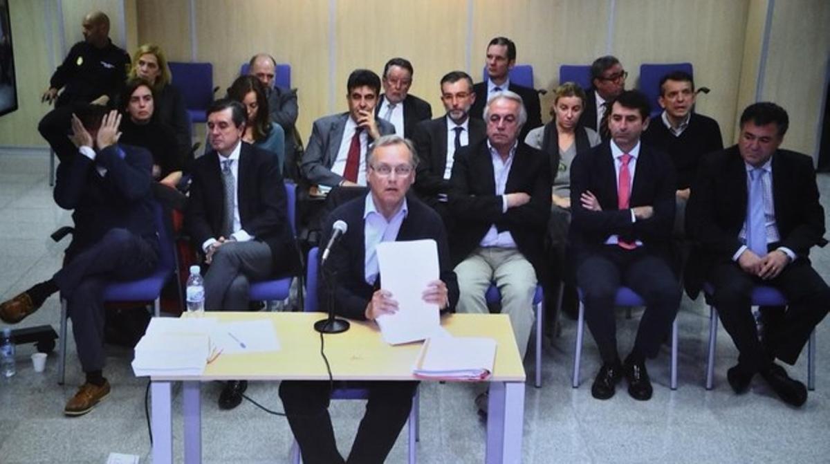 Marco Antonio Tejeido, durante su declaración ante el juez del 'caso Nóos'.