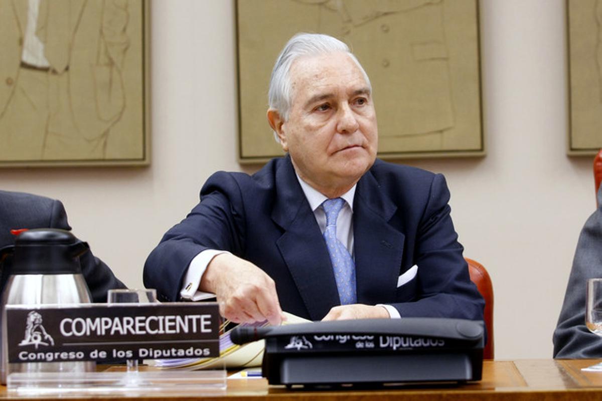Carlos Dívar, en el Congreso de los Diputados.