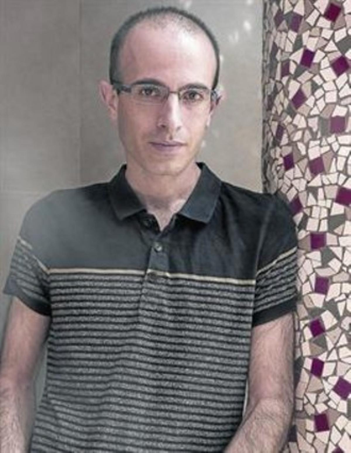 El historiador israelí Yuval Noah Harari, el pasado jueves en Barcelona.