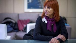 Barcelona    28 01 2021   Sociedad     Juana Lazaro   madre de una menor que se suicido en un centro de salud mental de Agramunt y cuyo caso esta siendo investigado  en el dspacho de los abogados que lleva su caso    Fotografia de Jordi Cotrina