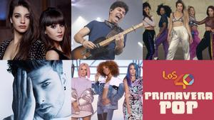 Algunos de los artistas que actuarán en Los 40 Primavera Pop 2019.