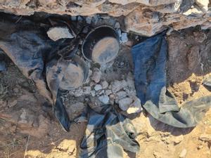 Imagen del yacimiento tras los destrozos.