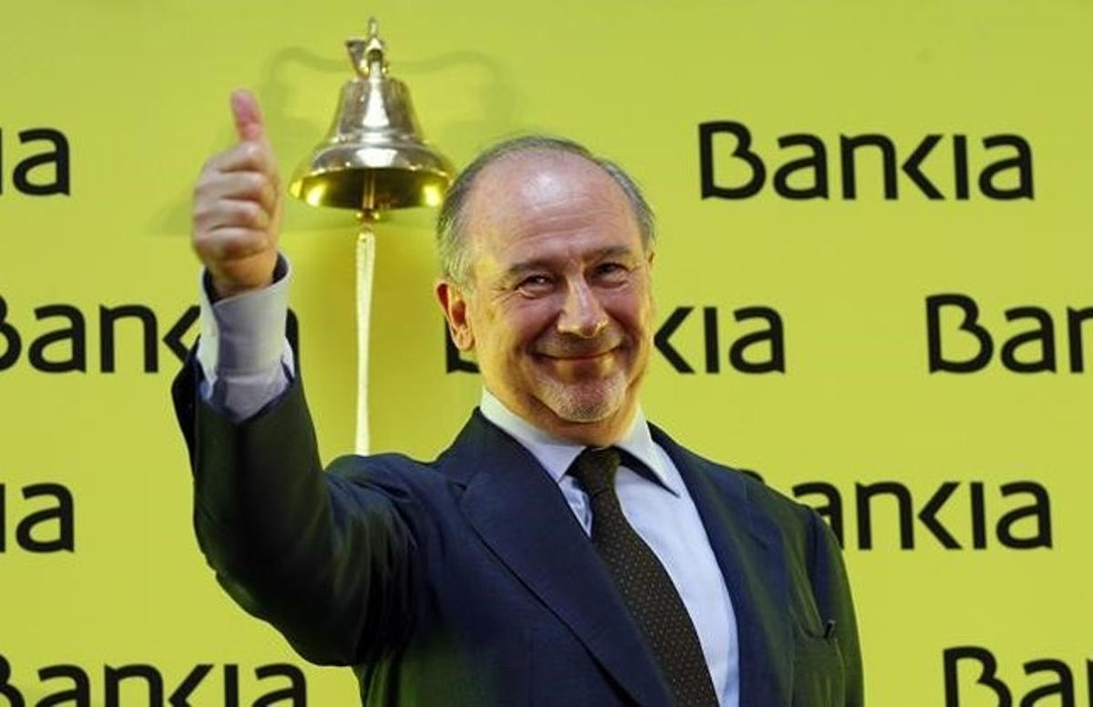 Rodrigo Rato en el acto de salida a bolsa de Bankia.