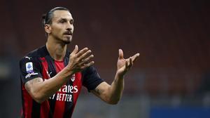 Zlatan Ibrahimovic en el partido de este lunes.
